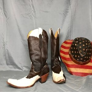 Shoes - REAL COW SKIN cowboy boots.  Absolutely gorgeous!